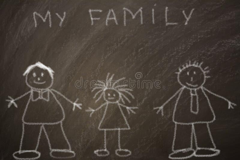 Glückliche homosexuelle Familie lizenzfreies stockfoto