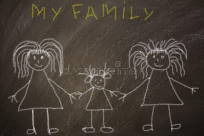 Glückliche homosexuelle Familie stockfotos