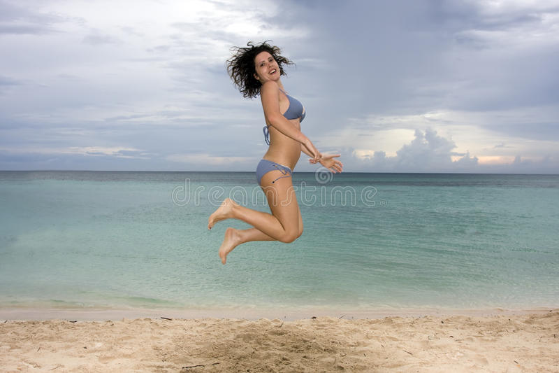 Glückliche junge Frau stockbilder
