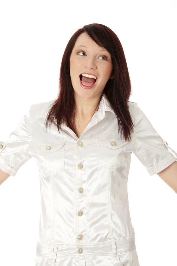 Glückliche junge Frau lizenzfreie stockfotos