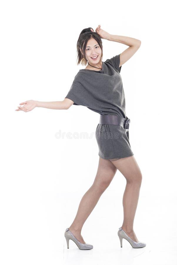 Glückliche junge Frau stockbild