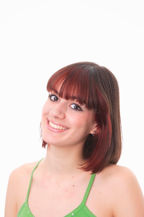 Glückliche junge Frau lizenzfreie stockbilder