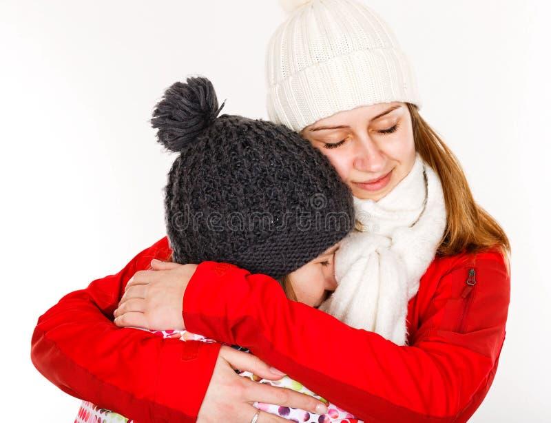 Glückliche junge Schwestern lizenzfreies stockbild