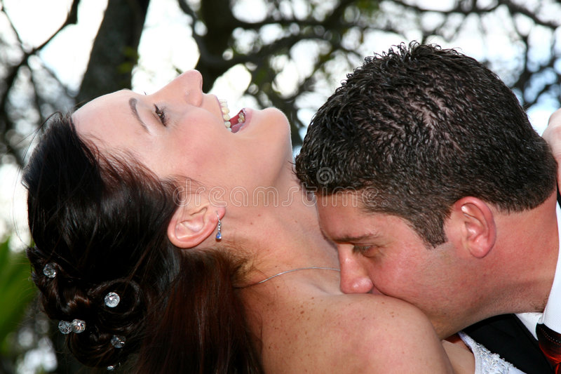 Glückliche Küsse stockbild
