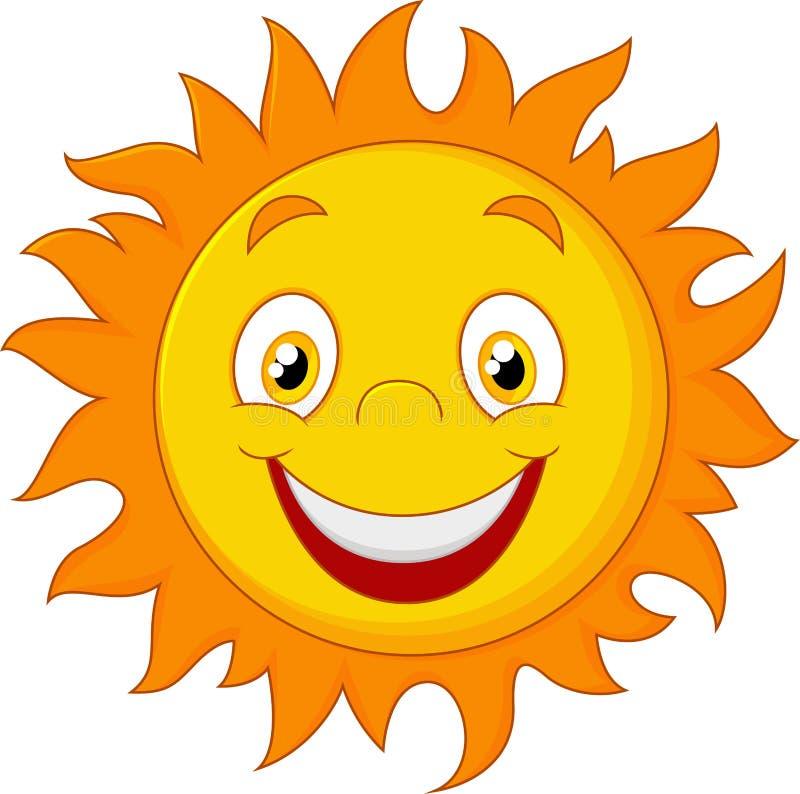 Glückliche Karikatur Sun lizenzfreie abbildung