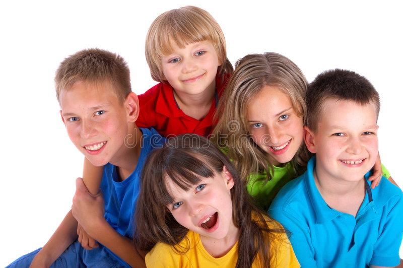 Glückliche Kinder lizenzfreies stockbild