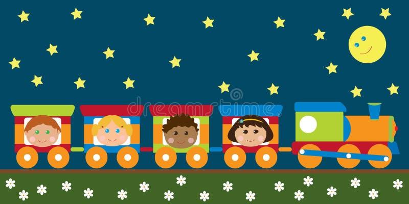 Glückliche Kinder in der Serie lizenzfreie abbildung