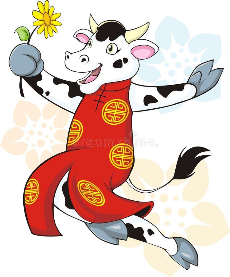 Glückliche Kuh lizenzfreie abbildung