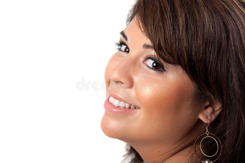 Glückliche lächelnde Frau lizenzfreies stockfoto