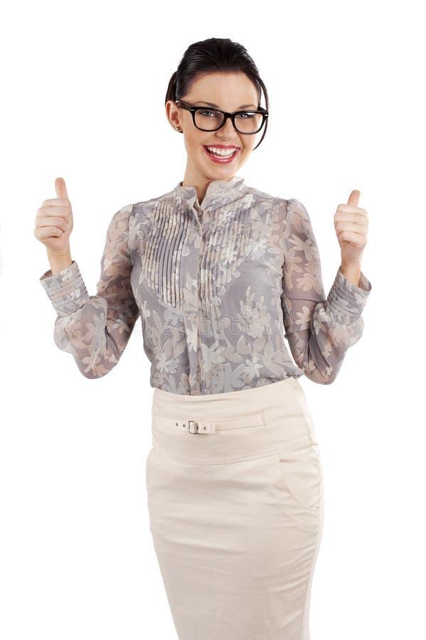Glückliche lächelnde Frau lizenzfreie stockfotos