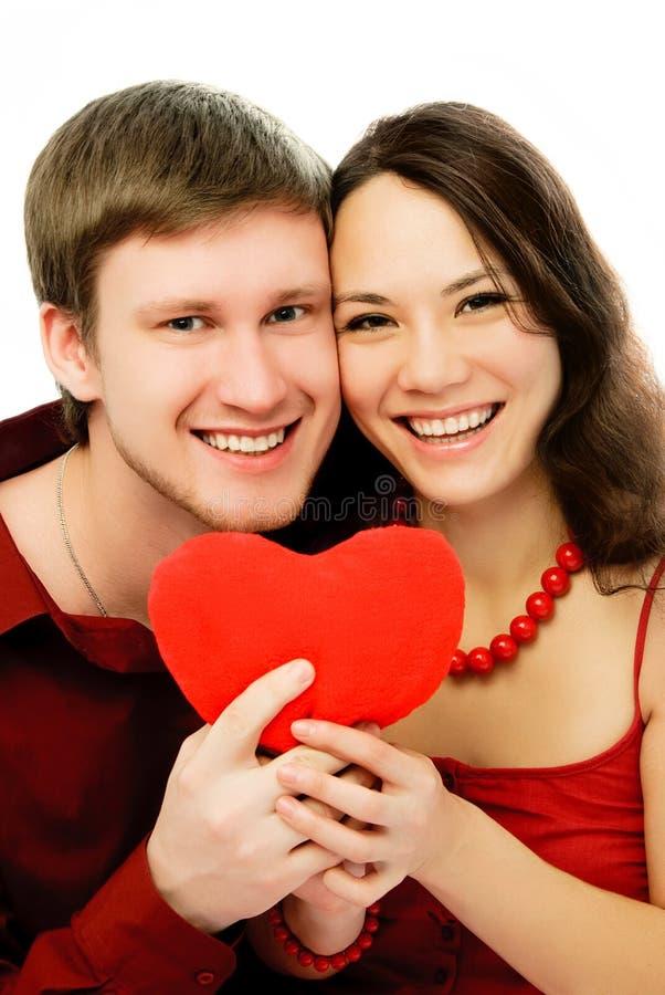 Glückliche lachende Paare stockbilder