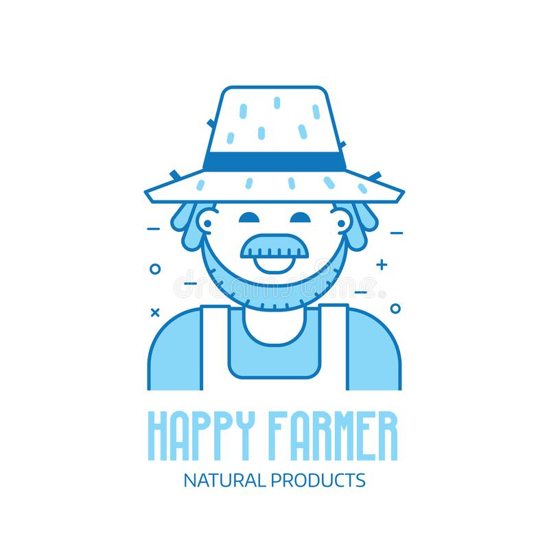 Glückliche Landwirtikone stock abbildung