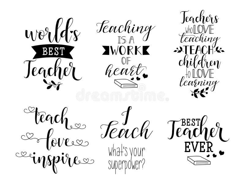 Glückliche Lehrer ` s Tagesaufkleber, Grußkarte, Plakat lizenzfreie stockfotografie