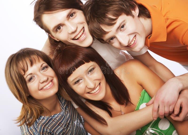 Glückliche Leute stockfoto