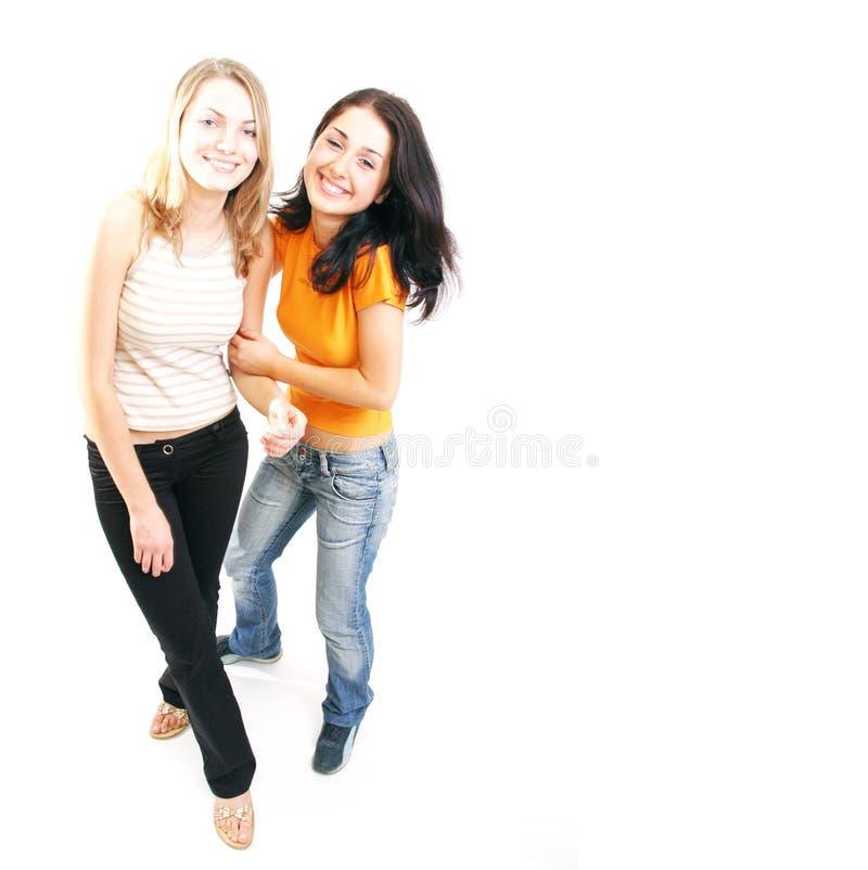 Glückliche Mädchen stockfoto
