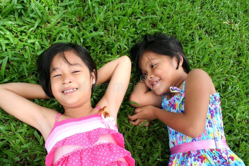 Glückliche Mädchen stockfotografie