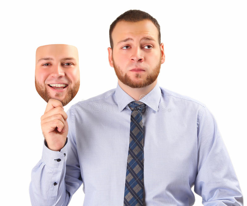 Glückliche Maske stockbilder