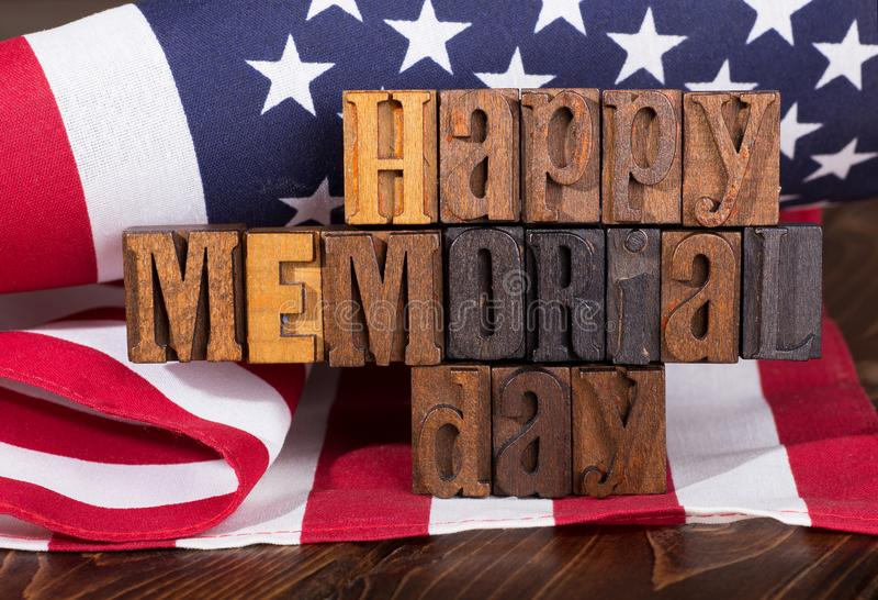 Glückliche Memorial Day -Fahne stockfotos