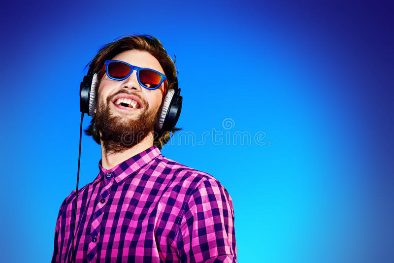 Glückliche Musik stockfoto