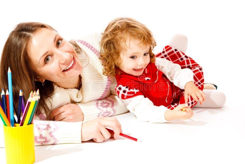 Glückliche Mutter und Kleinkind stockfoto