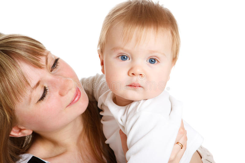 Glückliche Mutter und Schätzchen lizenzfreie stockfotos