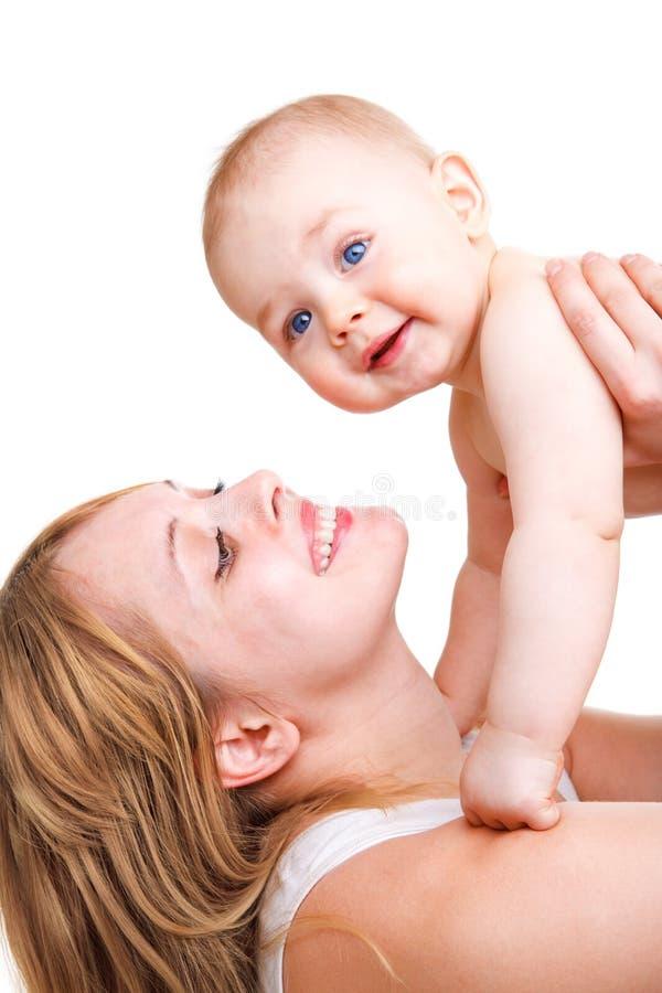 Glückliche Mutter und Schätzchen lizenzfreies stockbild