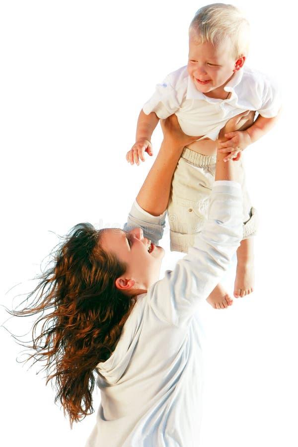Glückliche Mutter und Sohn lizenzfreie stockbilder