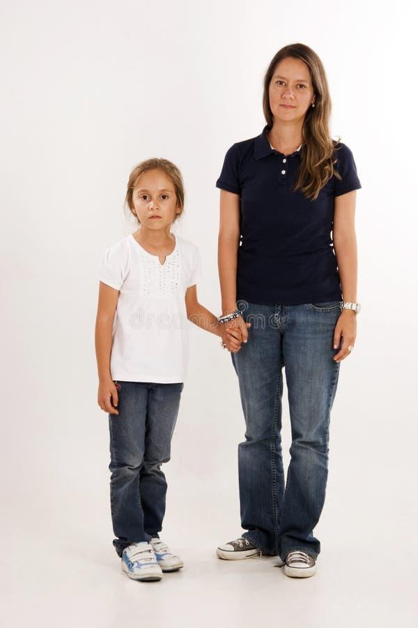 Glückliche Mutter und Tochter stockbilder