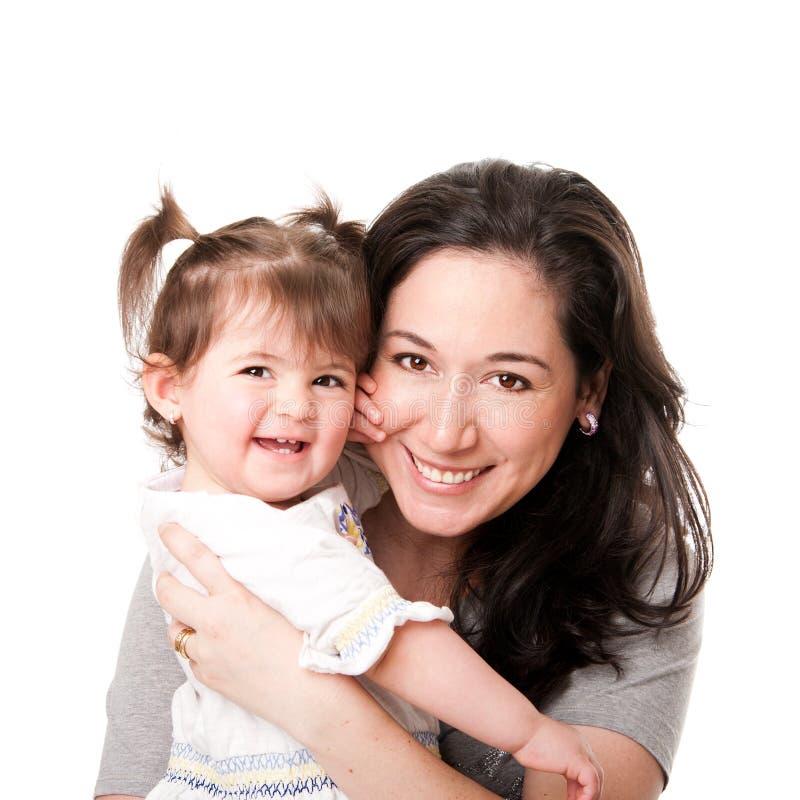 Glückliche Mutterschätzchentochterfamilie lizenzfreies stockbild