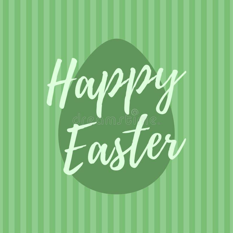 Glückliche Ostern-Beschriftung für Grußkarte Alte Papiere lizenzfreie abbildung