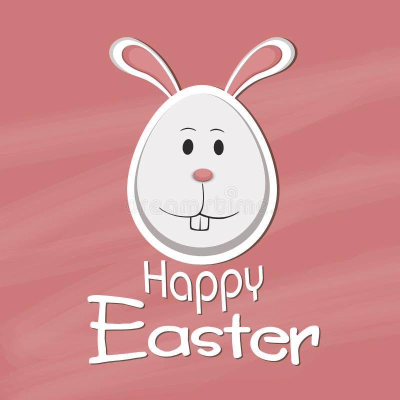 Glückliche Ostern-Feier mit nettem Häschen lizenzfreie abbildung