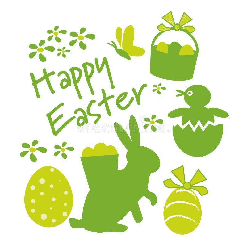Glückliche Ostern-Grußkarte stock abbildung