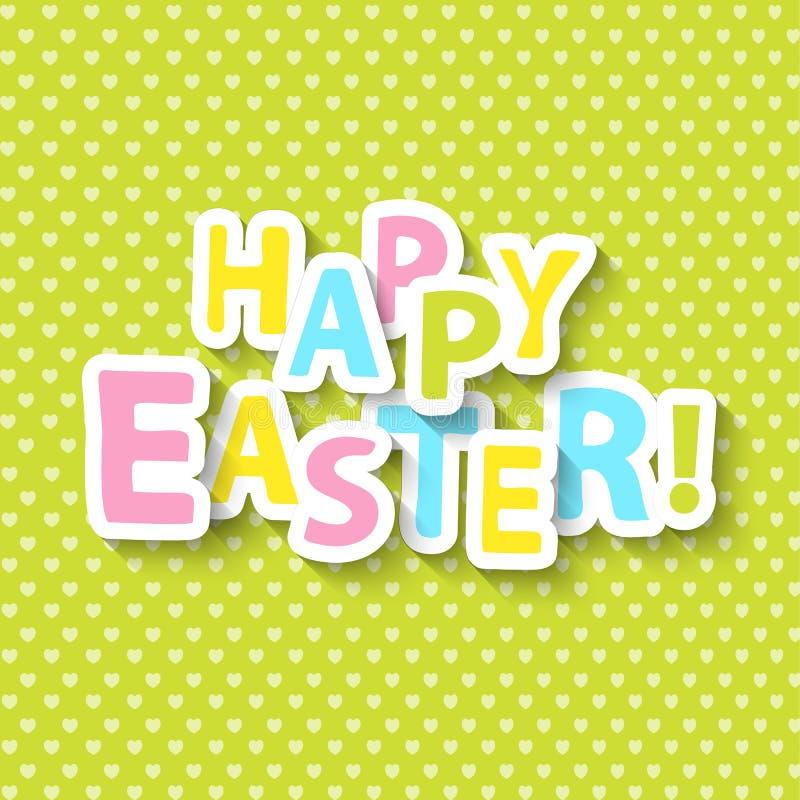 Glückliche Ostern-Grußkarte lizenzfreie abbildung