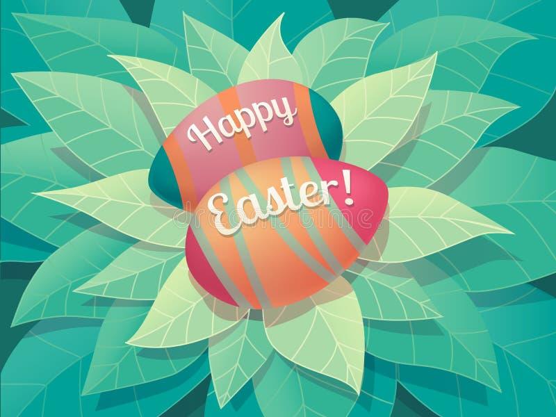 Glückliche Ostern-Grußkarte stockfoto
