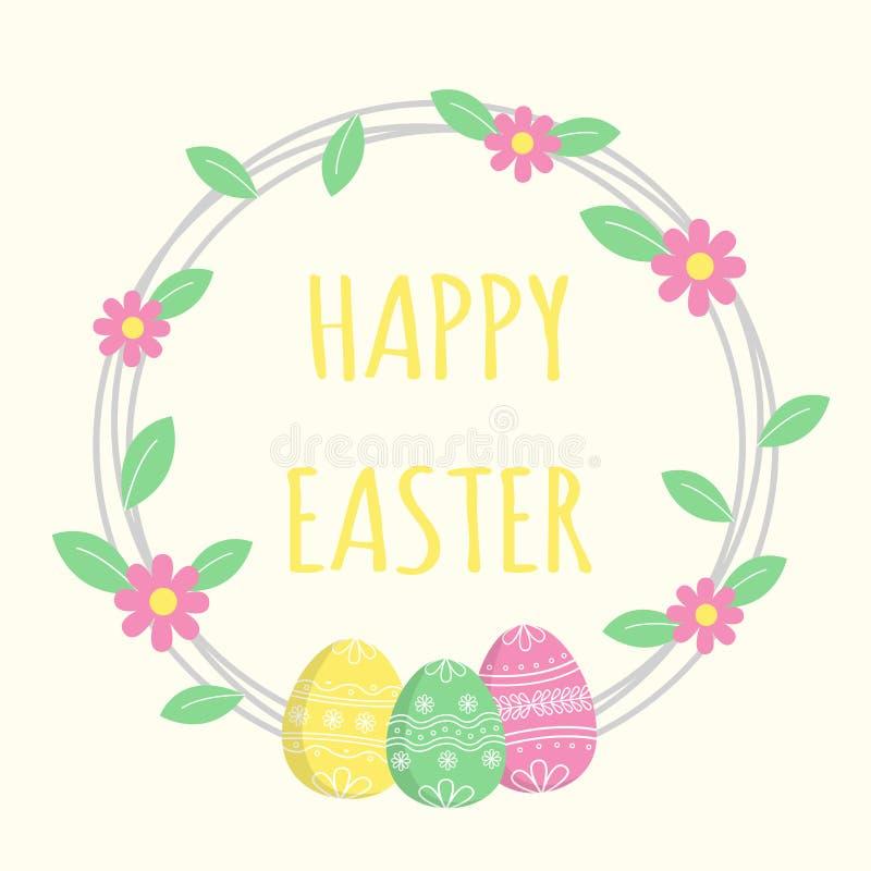 Glückliche Ostern-Grußkarte, bunte Zusammensetzung vektor abbildung
