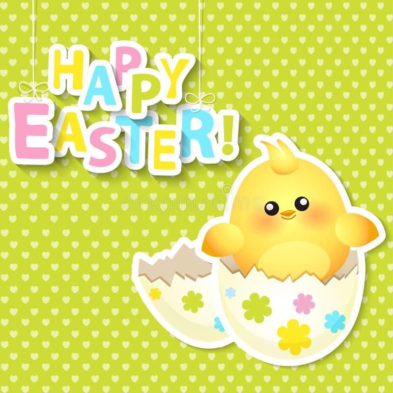 Glückliche Ostern-Grußkarte Vektor lizenzfreie abbildung