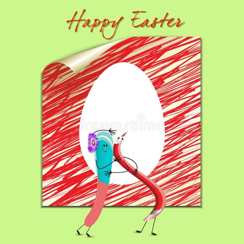 Download Glückliche Ostern-Karte vektor abbildung. Illustration von geschenk - 26370897