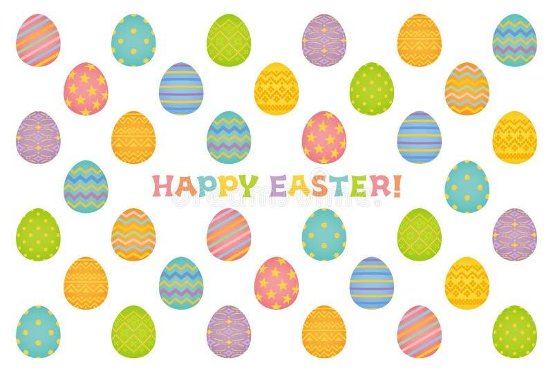 Glückliche Ostern-Karte. stock abbildung