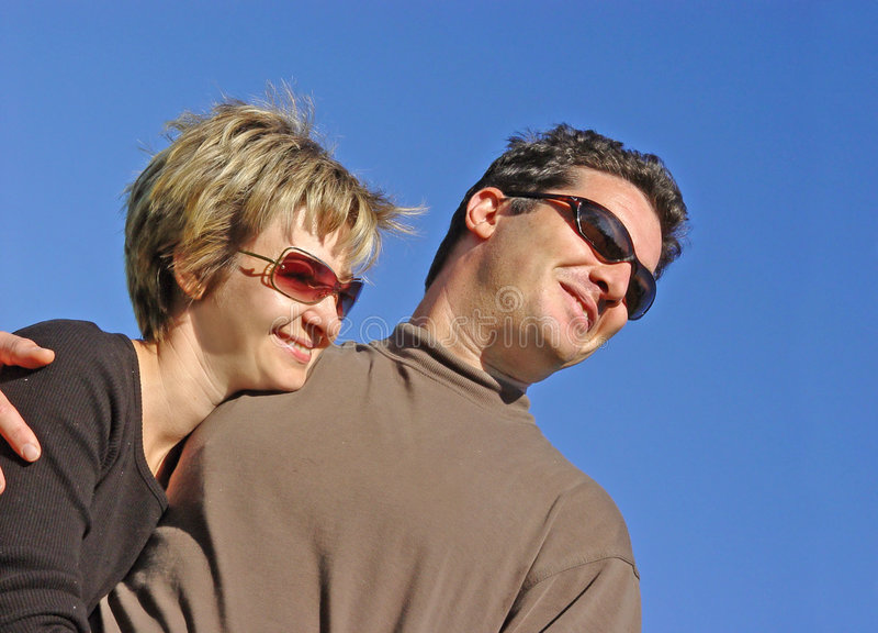 Glückliche Paare stockbilder