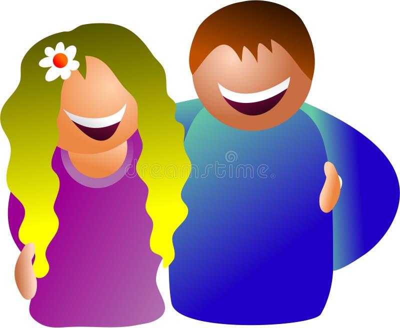 Glückliche Paare stock abbildung