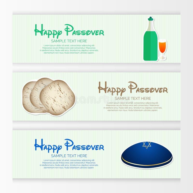Glückliche Passahfest-Zusammenfassung lizenzfreie abbildung