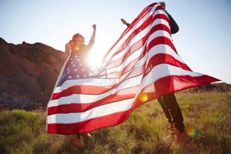 Glückliche Patrioten lizenzfreies stockbild