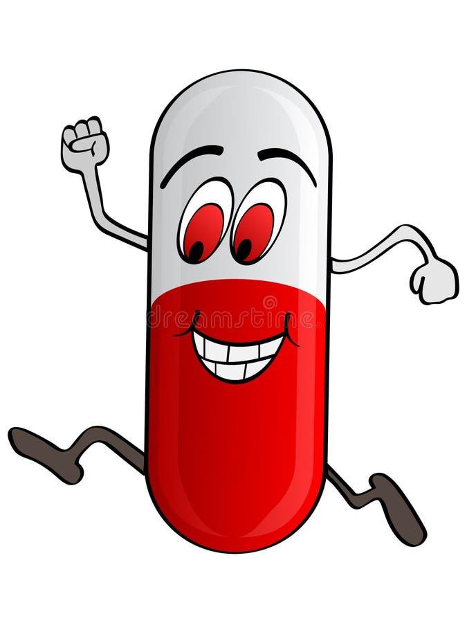 Glückliche Pille stock abbildung