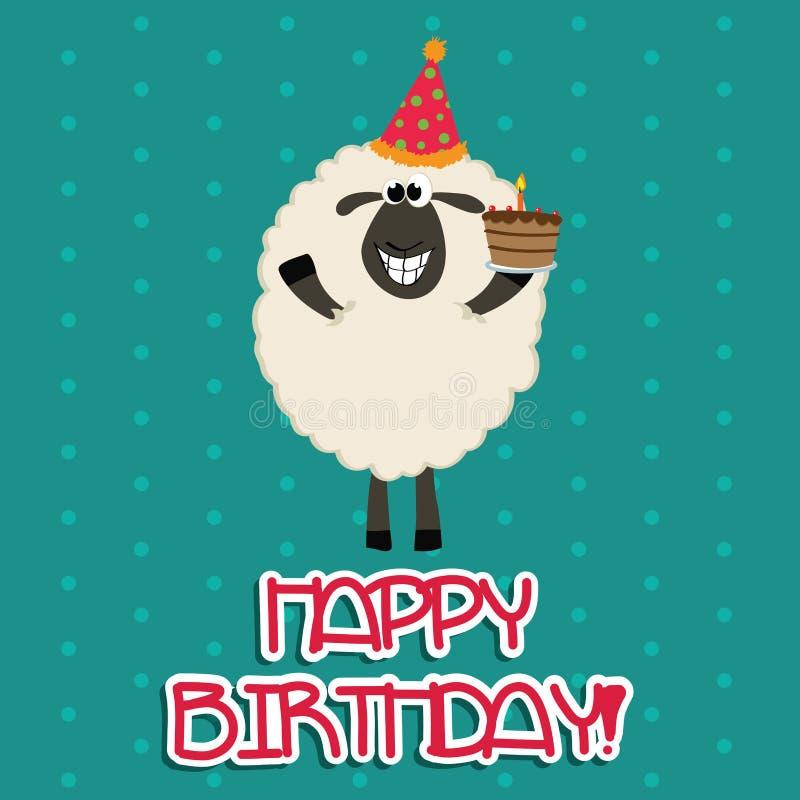 Glückliche Schafe stock abbildung