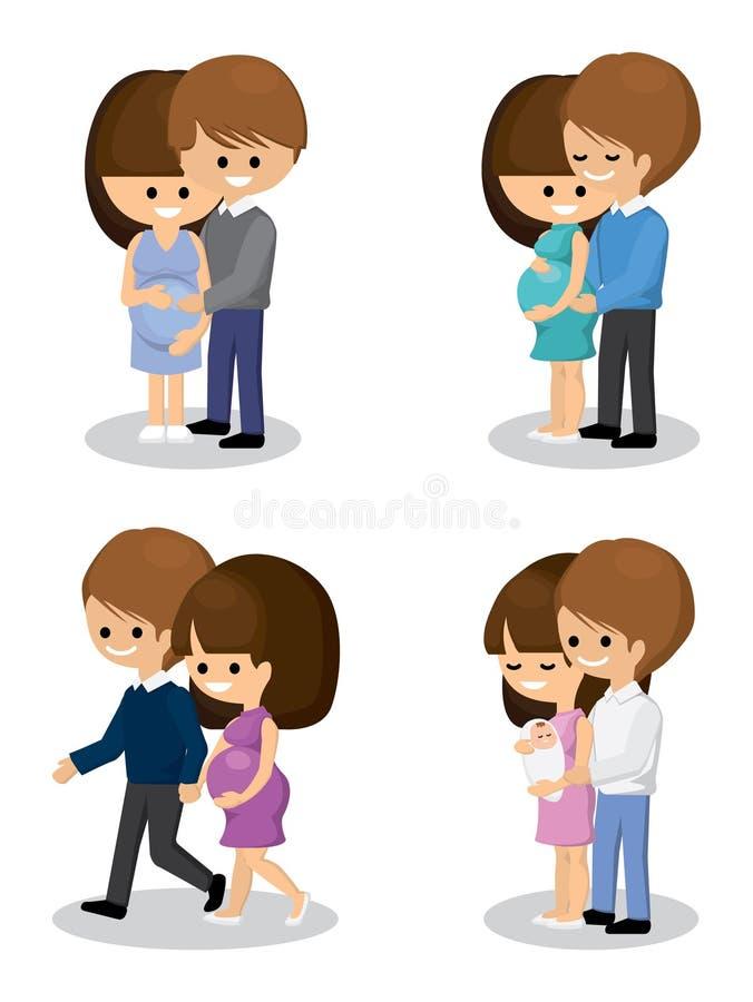 Glückliche schwangere Paare lizenzfreies stockbild