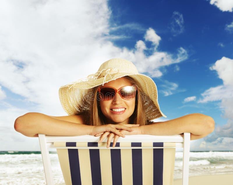 Glückliche Sommerferien stockbild