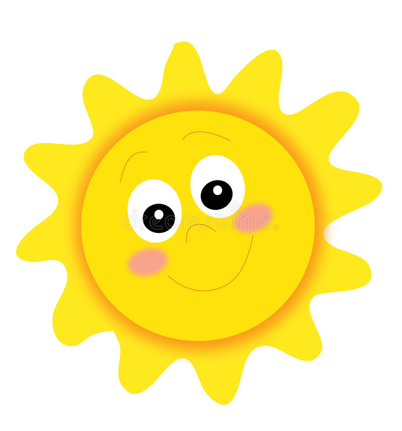Glückliche Sonne stock abbildung