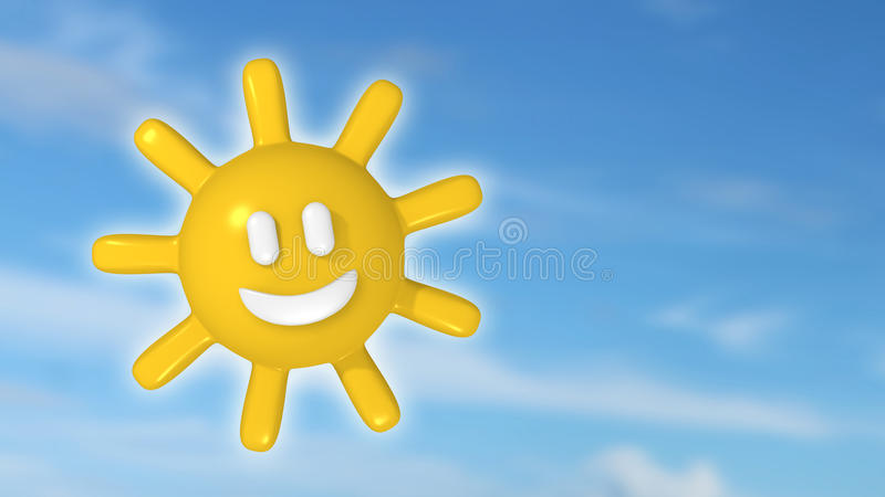 Glückliche Sonne lizenzfreie abbildung