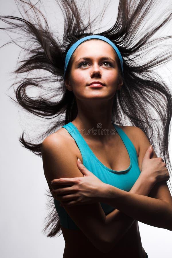Glückliche sportliche Frau lizenzfreie stockfotos