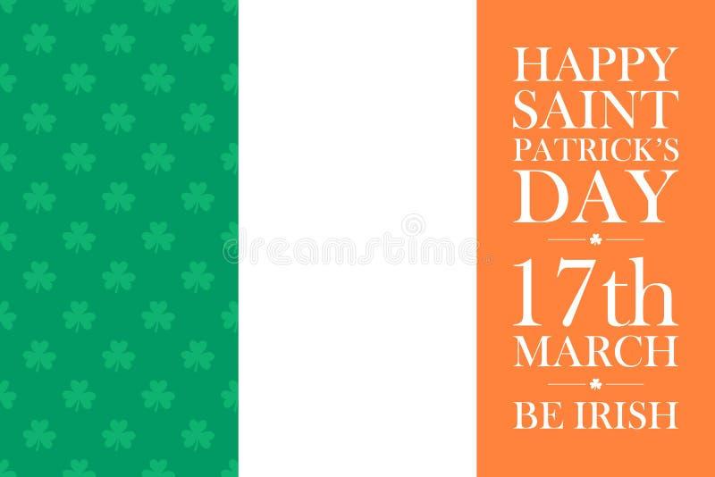 Glückliche St- Patrick` s Tagesgrußkartenschablone lizenzfreie abbildung